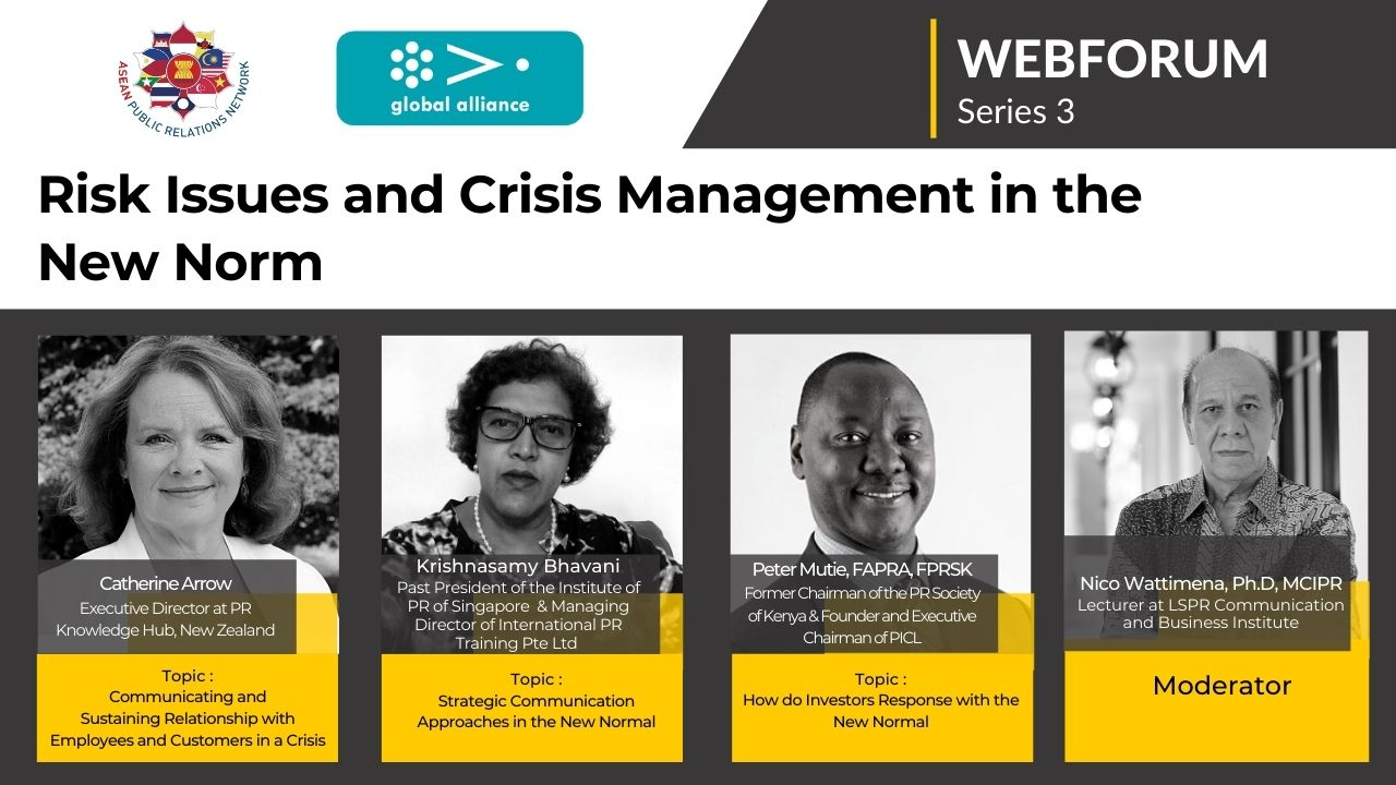 APRN WEBFORUM : Risk Issues and Crisis Management in New Norm | 3rd Series