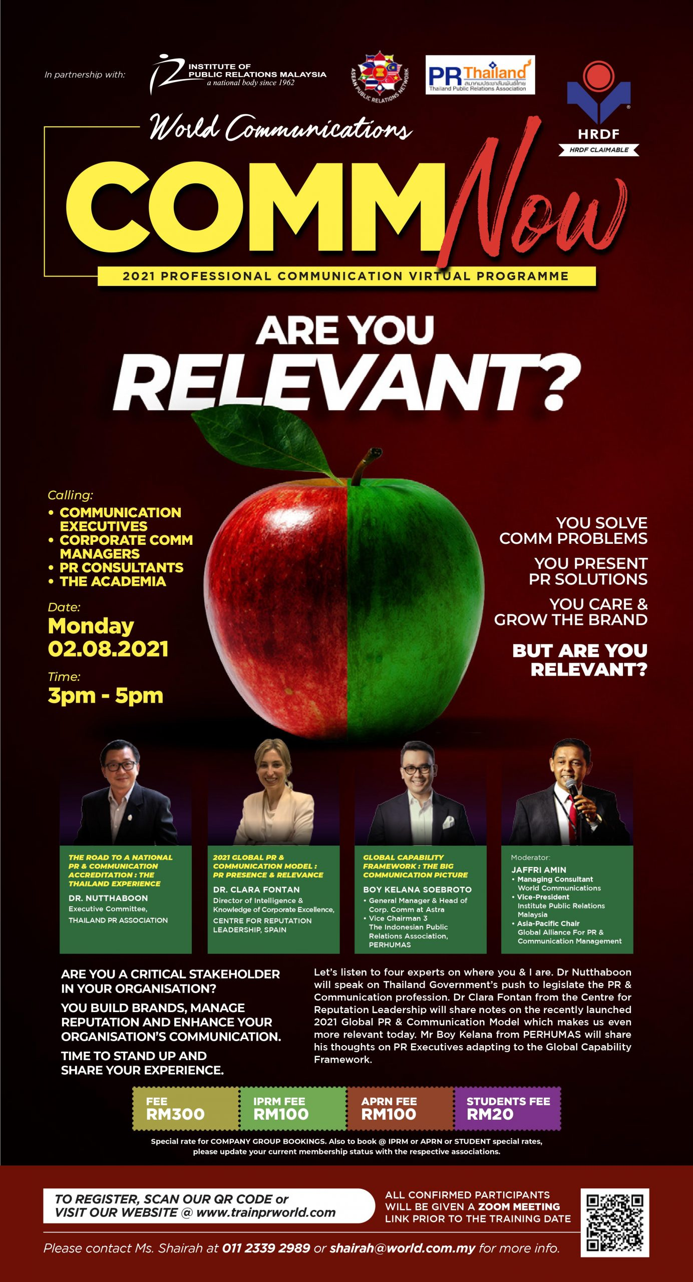 [Upcoming Event] World Communication Comm NOW Talk: Are You Relevant?